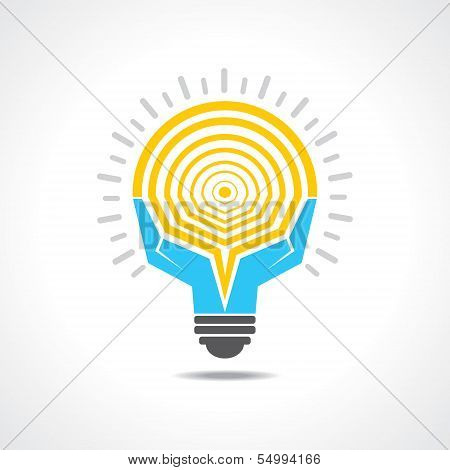 Light-bulb made by hands
