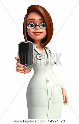 Young Doctor with mobile