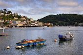 stock photo of dartmouth  - Boats on the Dart Estuary - JPG