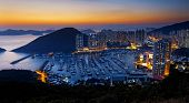 stock photo of typhoon  - Hong Kong beautiful sunset  - JPG