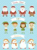 stock photo of elf  - Christmas set - JPG