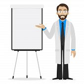 pic of prescription pad  - Illustration scientist specifies on flipchart - JPG