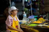 Waiti�ng for customers at the night market in Hua Hin