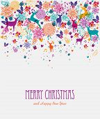 Merry Christmas Colorful Greeting Card