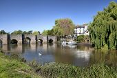 stock photo of avon  - The River Avon at Bidford - JPG