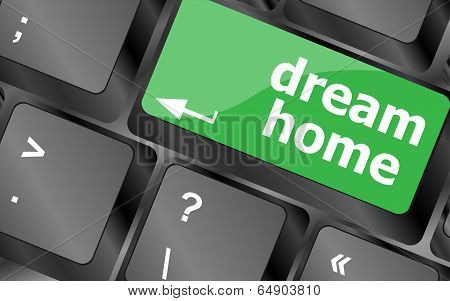 Computer Keyboard With Dream Home Key - Technology Background