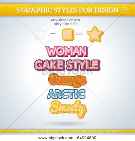 Set Of Various Graphic Styles For Design.