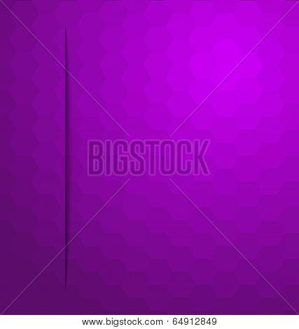 Purple Hexagonal Mosaic