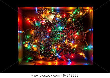 Christmas lights in a box