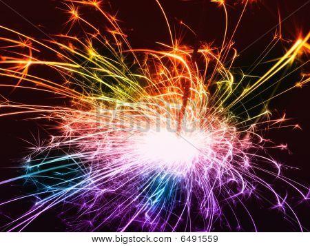 Fireworks closeup