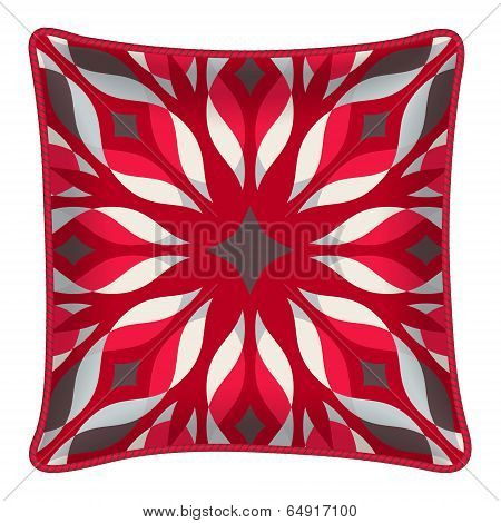 Decorative pillow with patterned pillowcase