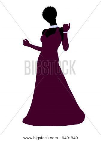 African American Cinderella Silhouette Illustration