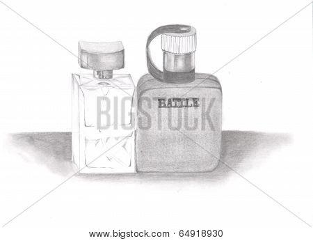 Botles of parfumes