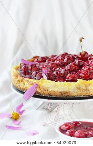 Cheesecake With Cherry Sause