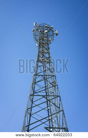 Gsm Tower And Blue Sky