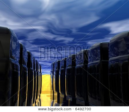 Computer Servers and Sky