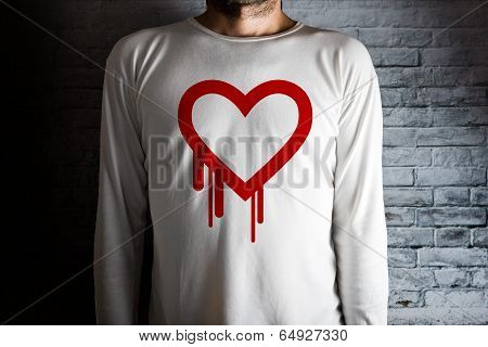 Hearbleed Bug Symbol On White Shirt