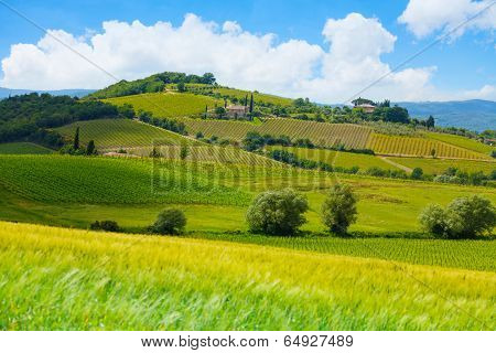 Highland in Tuscany landscape, Italy
