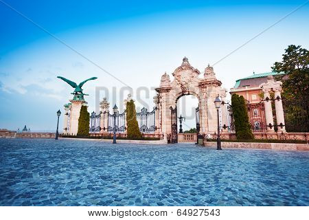 Habsburg Gate in Budapest, Hungary