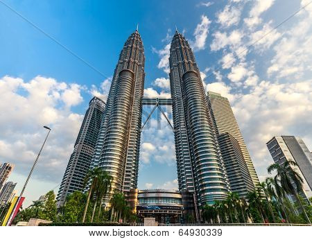 KUALA LUMPUR, MALAYSIA - February 16:Evening time of Petronas Twin Towers on February 16,2014 in KL