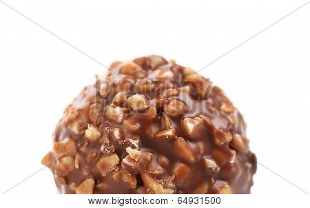 Round chocolate bonbon.