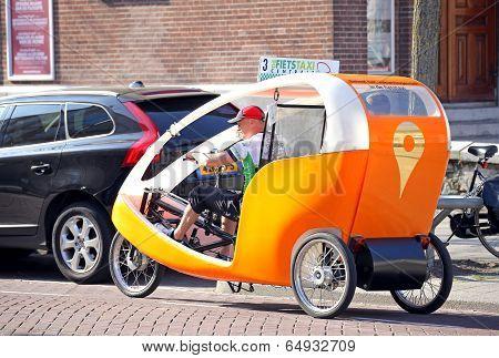 Bike Taxi In Rotterdam, Netherlands