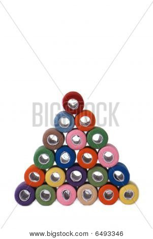 pyramid of threads (face view)