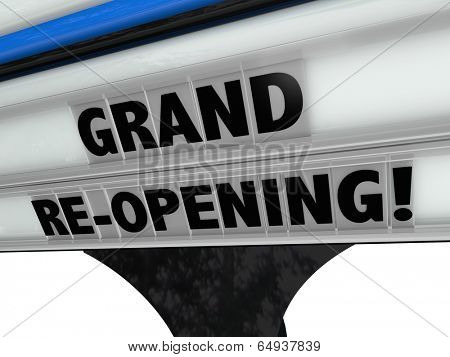 Grand Re-Opening Sign advertising business relaunch remodel