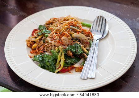 Drunken Noodles Fried Pork