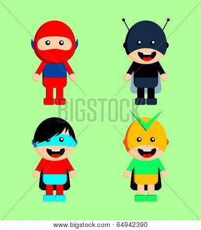 superhero cartoon characters