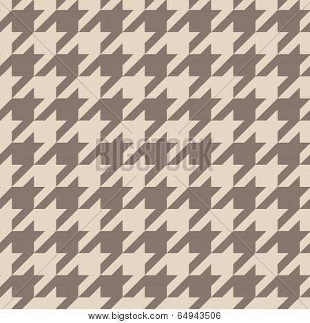 Houndstooth seamless vector pastel brown pattern or tile background.