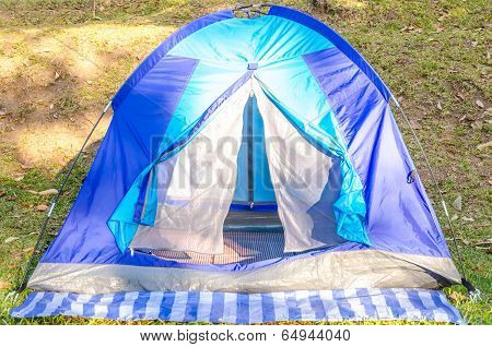 Camping Tent On The Moutain In Winter