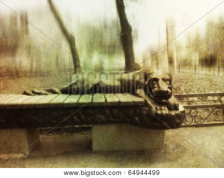 Panther On Bench
