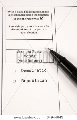 Straight Party Voting