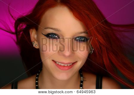 Portrait of a sexy young rocker girl