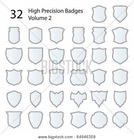 High Precision Badges Set