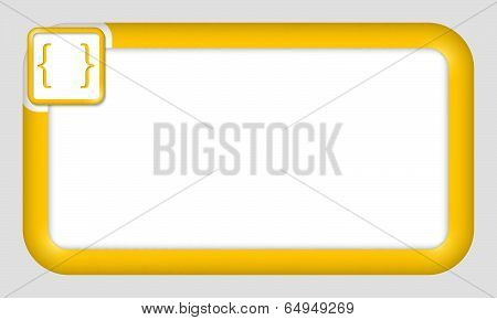 Vector Frame For Text Insertion With Brackets