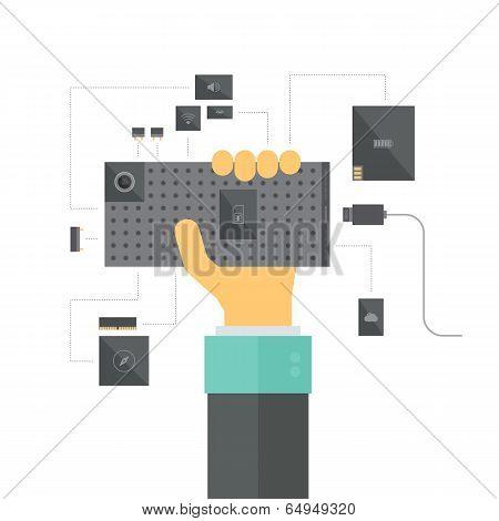 Modular Smartphone Concept Illustration
