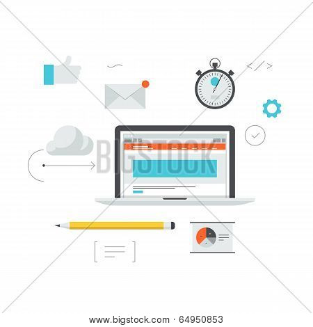 Web Development Workflow Illustration