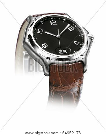 Detail Of A Wrist Watch Isolated On White