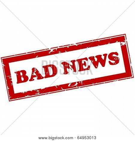 Red Stamp With Bad News