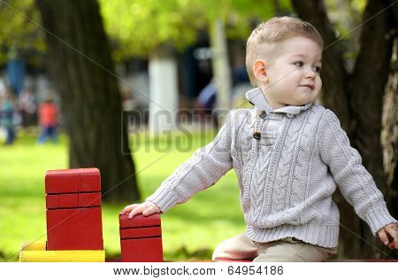 2 Years Old Baby Boy On Playground