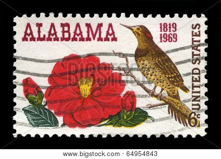 Us Postage Stamp Commemorating Alabama Statehood