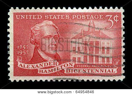 Us Postage Stamp Celebrating Alexander Hamilton