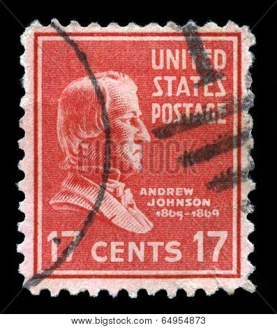 Us Postage Stamp Depicting Andrew Johnson