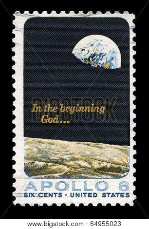Apollo 8 Us Postage Stamp