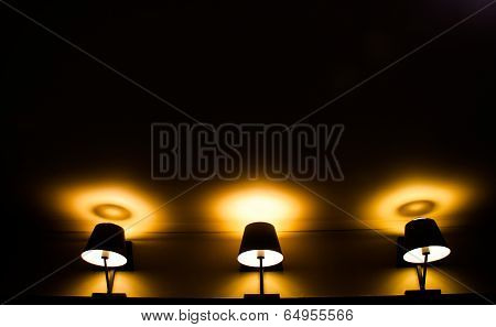 3 Yellow Light From Classic Lamp