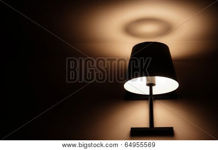 Vintage Classic Lighting From The Lamp On The Wall