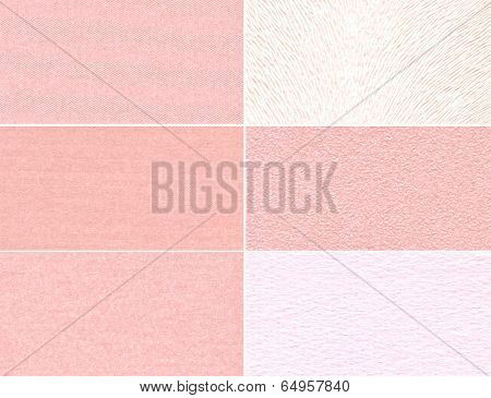 Set Of Pink Granular Textures
