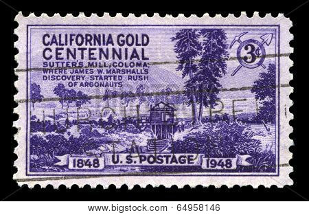 California Gold Centennial Postage Stamp